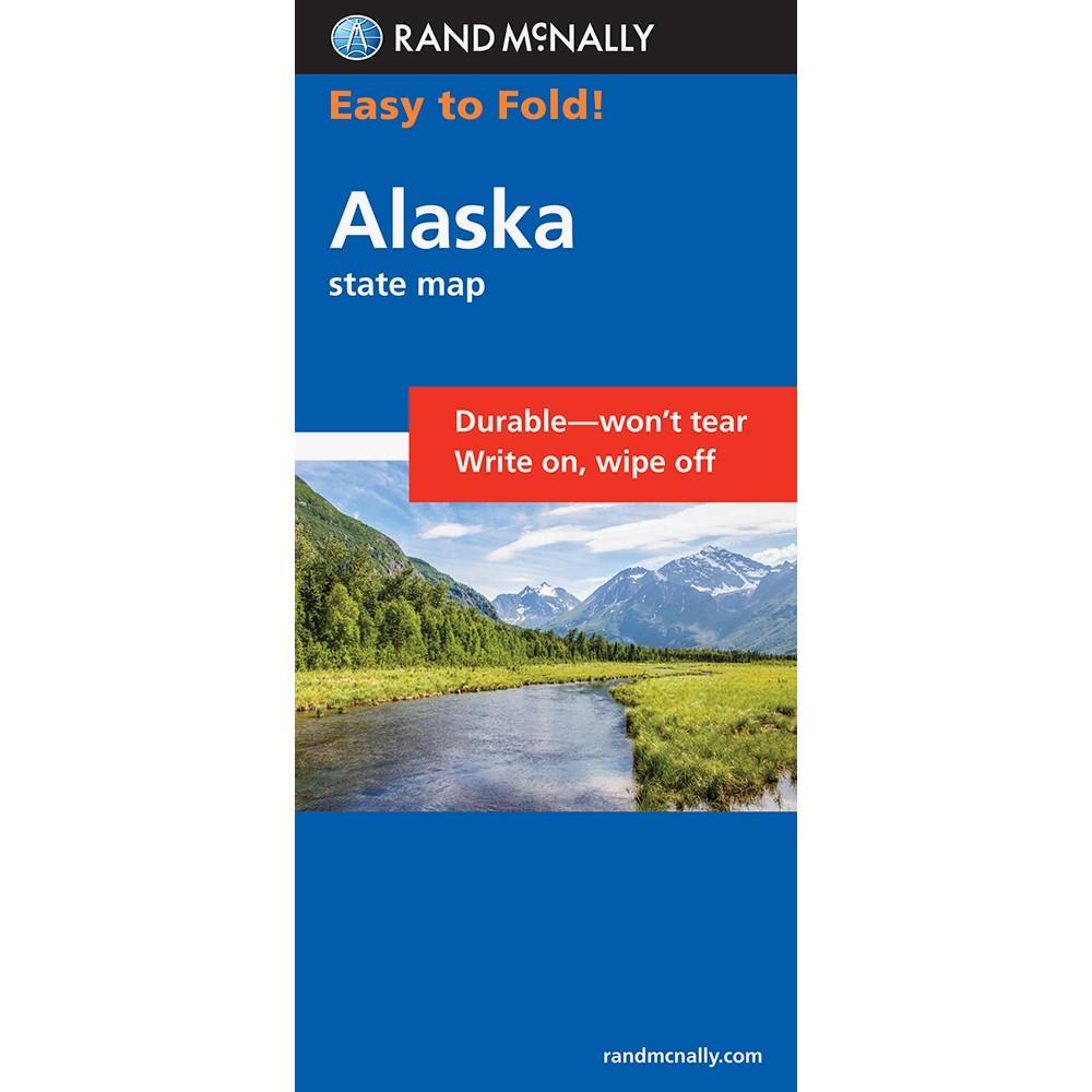 Alaska Easy To Fold Folding Travel Map The Map Shop - Rand mcnally easy to fold maps