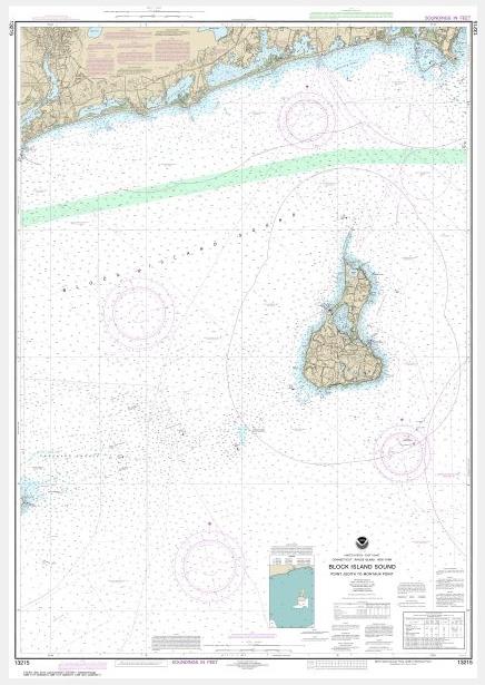Noaa Chart Block Island Sound Point Judith To Montauk Point